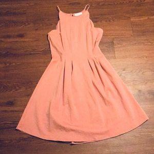 Pretty Mauve Scalloped Dress - Size Large